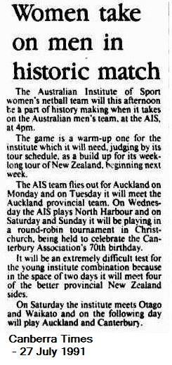 Canberra Times July 1991
