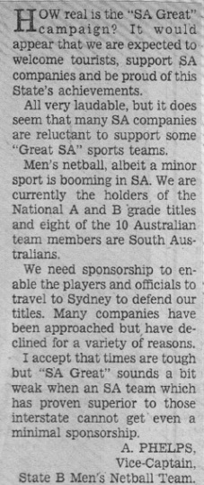 Letter to Editor 1987