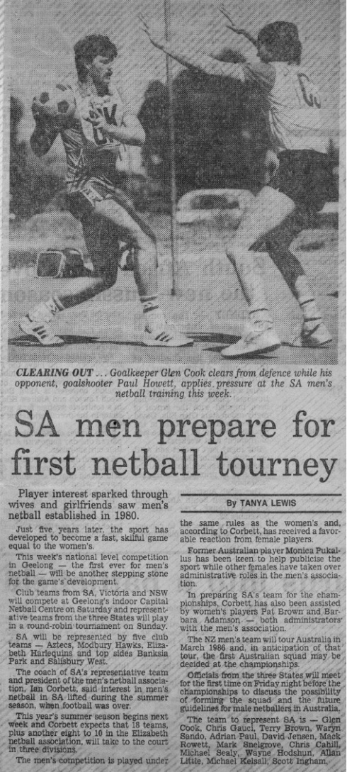SA Newspaper Article 1985a