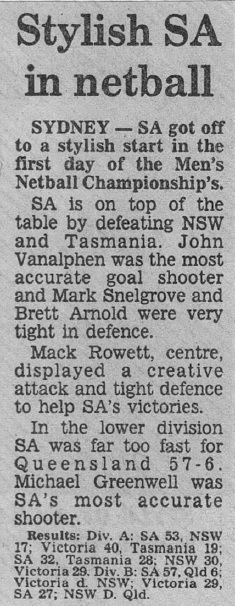 SA Newspaper Article 1987b