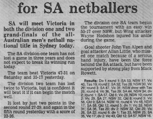 SA Newspaper Article 1987c1