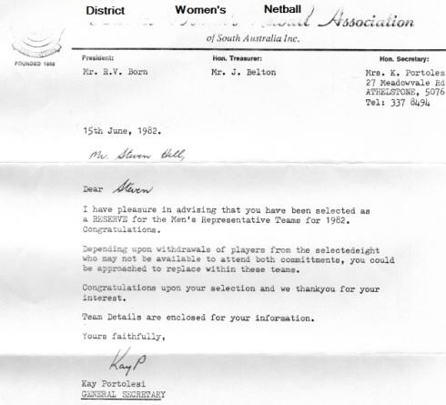 SA Selection 1982