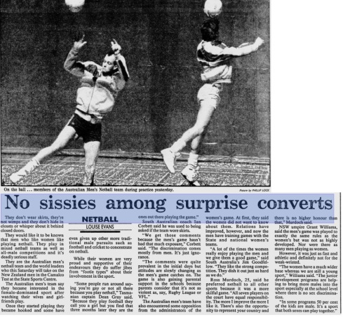 Sissies and converts SMH Sept 1989
