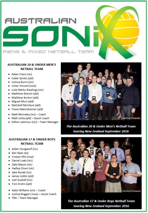 Sonix Junior Squad Sept 2016